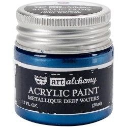 Краска акриловая Metallique Deep Waters, Prima Marketing Ink Finnabair