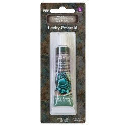 Воск Metallique Wax by Finnabair, Prima Marketing Ink цвет Lucky Emerald