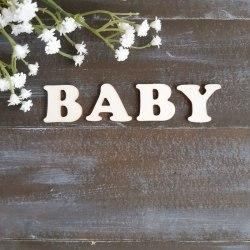 Baby - набор букв для тиснения, Лавандовый комод