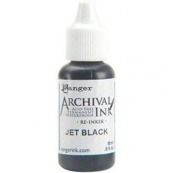 Заправка Archival Re-Inker - Jet Black, 18 мл. Ranger