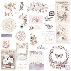 Lavender Frost, набор: высечки картонные, ацетатные высечки и наклейки, Prima Marketing Ink