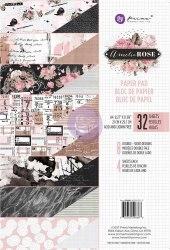 Набор скрапбумаги, 8 двусторонних листов, А4 формата, Prima Marketing Ink Amelia Rose