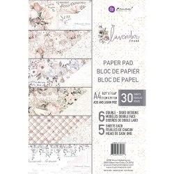 Набор скрапбумаги, 6 двусторонних листов, А4 формата, Prima Marketing Ink Lavender Frost