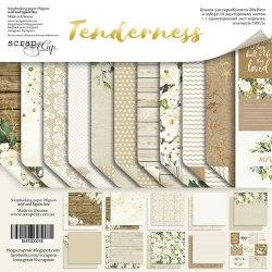Набор двусторонней бумаги 20х20см, 11 двусторонних листов, Scrapmir Tenderness