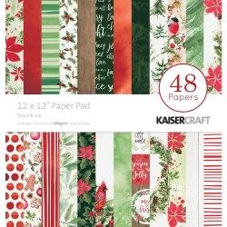 Набор скрапбумаги 30х30, 24 листа, коллекция Peace & Joy Kaisercraf