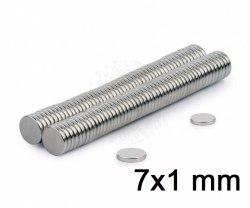 Магнит неодимовый, 2 шт., 7 х 1 мм