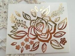 Цветочный фрагмент 10х12 см, из винила или термотрансферной пленки