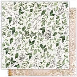 """Лист двусторонней бумаги """"Fallen leaves"""" 30,5*30,5см, 190гр. Summer Studio Antique garden"""