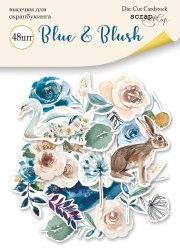 Набор высечек для скрапбукинга 48шт Scrapmir Blue & Blush