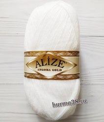 Пряжа Ализе Ангора Голд (Alize Angora Gold) 55 белый