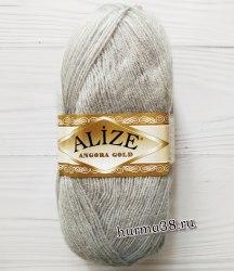 Пряжа Ализе Ангора Голд (Alize Angora Gold) 21 серый