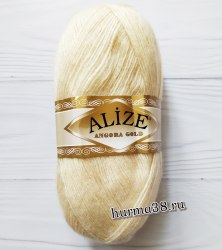 Пряжа Ализе Ангора Голд (Alize Angora Gold) 67 молочно-бежевый