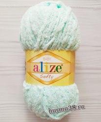 Пряжа Ализе Cофти (Alize Softy) 15 водяная зелень