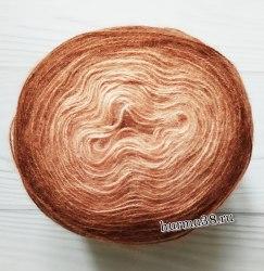 Пряжа Ализе Ангора Голд Омбре Батик (Alize Angora Gold Ombre Batik) 7302 коричневый мокко
