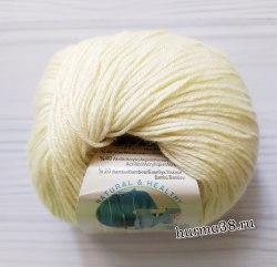 Пряжа Ализе Бейби Вул (Alize Baby Wool) 01 кремовый