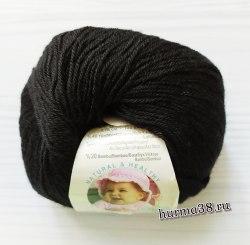 Пряжа Ализе Бейби Вул (Alize Baby Wool) 60 чёрный
