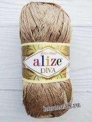 Пряжа Ализе Дива (Alize Diva) 167 бежевый
