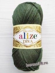 Пряжа Ализе Дива (Alize Diva) 131 лесная зелень
