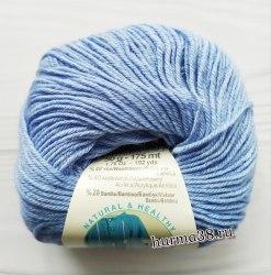 Пряжа Ализе Бейби Вул (Alize Baby Wool) 40 голубой