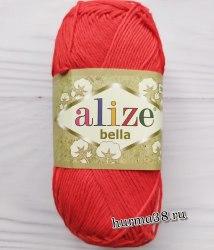 Пряжа Ализе Белла (Alize Bella) 56 красный