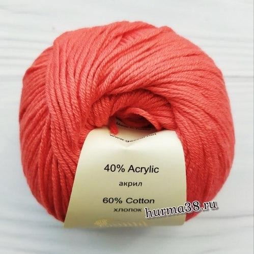 Пряжа Газзал Бейби Коттон (Gazzal Baby Cotton) 3418 яркий коралл