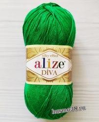 Пряжа Ализе Дива (Alize Diva) 123 трава