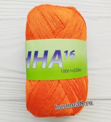 Пряжа Сеам Анна 16 (Seam Anna 16) 308 апельсиново-оранжевый