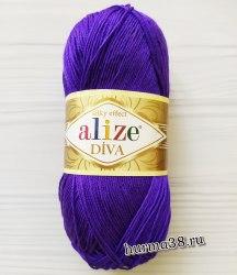 Пряжа Ализе Дива (Alize Diva) 252 фиолетовый