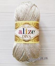 Пряжа Ализе Дива (Alize Diva) 168 морская ракушка