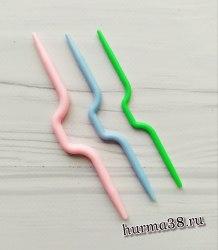 Спицы вспомогательные для вязания кос 3 шт. (волна)