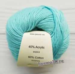 Пряжа Газзал Бейби Коттон (Gazzal Baby Cotton) 3451 нежная бирюза