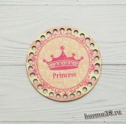 """Цветное донышко/крышка для корзин круг """"Принцесса"""" 15 см."""