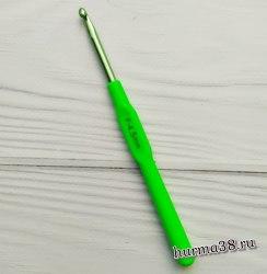 Крючок для вязания с пластиковой ручкой STAR (алюминий) №4,5
