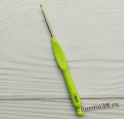 Крючок для вязания с пластиковой ручкой и золотым концом №1,8