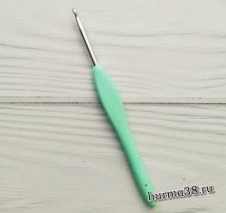 Крючок для вязания с каучуковой ручкой (алюминий) №4