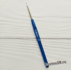 Крючок для вязания с пластиковой ручкой (сталь) №1,5