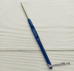 Крючок для вязания с пластиковой ручкой (сталь) №2,5