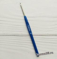 Крючок для вязания с пластиковой ручкой (сталь) №3