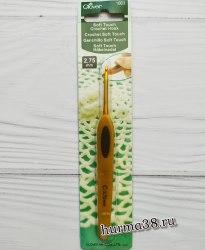 Крючок для вязания Кловер Софт Тач (Clover Soft Touch) №2,75