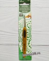 Крючок для вязания Кловер Софт Тач (Clover Soft Touch) №0,6