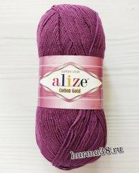 Пряжа Ализе Коттон Голд (Alize Cotton Gold) 122 сливовый