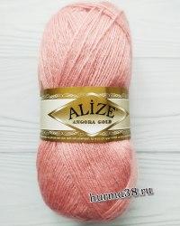 Пряжа Ализе Ангора Голд (Alize Angora Gold) 144 тёмная пудра