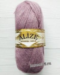Пряжа Ализе Ангора Голд (Alize Angora Gold) 312 тёмно-лиловый