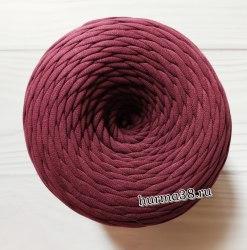 Трикотажная пряжа цвет марсала