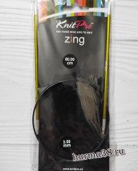 Спицы круговые на леске КнитПро (KnitPro) серия Zing №3,5 60см