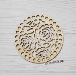 "Крышка для корзин круг ""Розы"" 15 см."