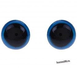 Глазки для игрушек на безопасном креплении цвет голубой 8мм. 2 шт. арт. 1553369
