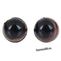Глазки для игрушек на безопасном креплении цвет коричневый 8мм. 2 шт. арт. 1553370