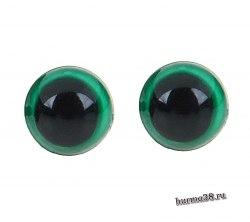 Глазки для игрушек на безопасном креплении цвет зеленый 8мм. 2 шт. арт. 1553371