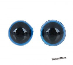 Глазки для игрушек на безопасном креплении цвет голубой 1 см. 2 шт. арт. 1553372